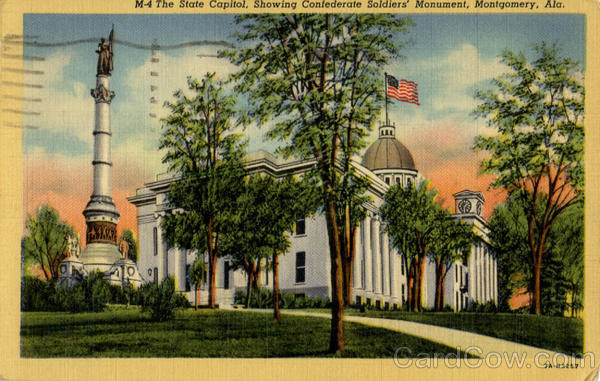 The State Capitol Showing Confederate Soldier's Mo Montgomery Alabama