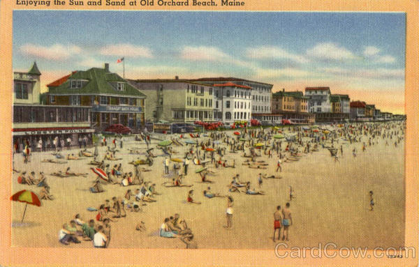 Enjoying the Sun and Sand at Old Orchad Beach Old Orchard Beach Maine