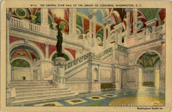 Central Stair Hall of Library of Congress Washington District of Columbia