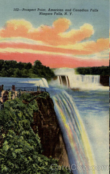 Prospect Point American and Canadian Fallas Niagara Falls New York