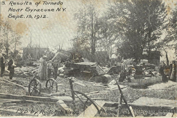 Results of Tornado September 15, 1912 Syracuse New York