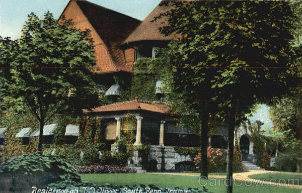 Residence, Mansion of TD Oliver (now the Oliver Inn) South Bend Indiana