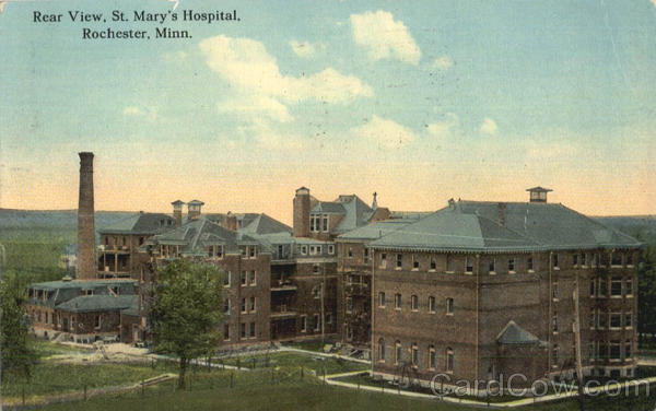 Rear View St. Mary's Hospital Rochester Mississippi