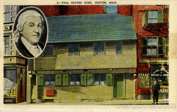 Paul Revere Home Boston Massachusetts