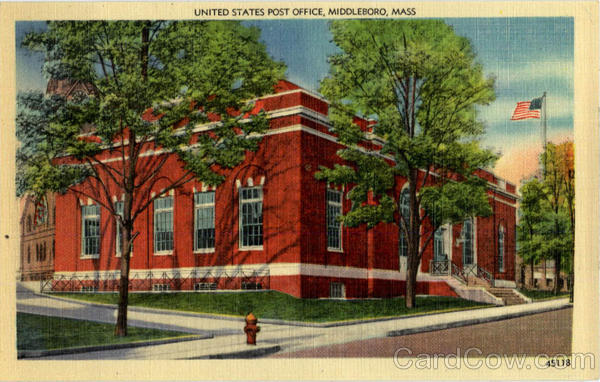 US Post Office Middleboro Massachusetts