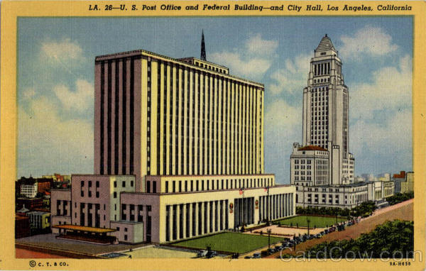 US Post Office and Federal Building City Hall Los Angeles California
