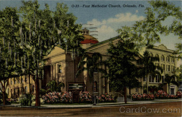First Mehodist Church Orlando Florida 1954