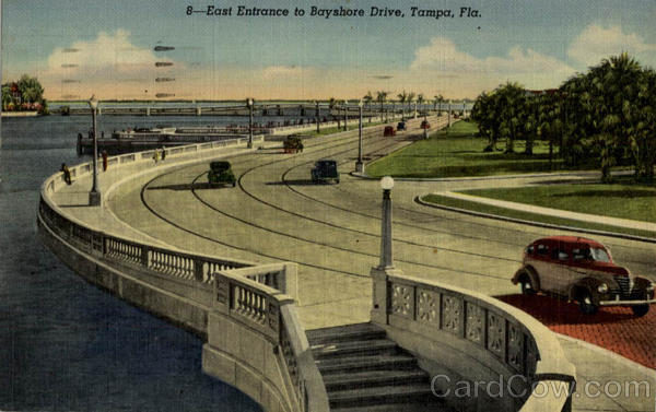 East Entrance to Bayshore Drive Tampa Florida