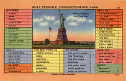 Busy Persons Correspondence Card - Statue of Liberty