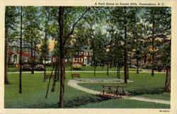 A Park Scene in Sunset Hills, Greensboro, N.C.