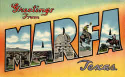 Greetings from Marfa - Large Letter