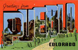 Greetings from Pueblo Postcard