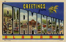 Greetings from Birmingham Postcard