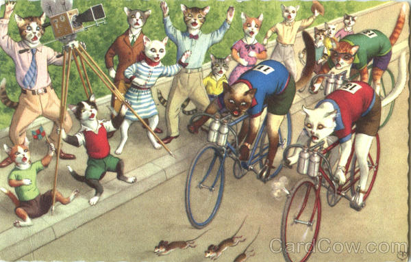 Bicycle Race #4875 Alfred Mainzer (Eugen Hurtong) Dressed Animals