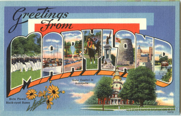 Greetings from Maryland Large Letter