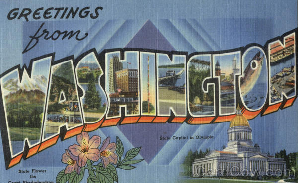 Greetings from Washington Large Letter