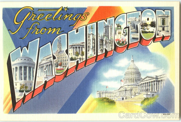 Greetings from Washington DC District of Columbia Large Letter