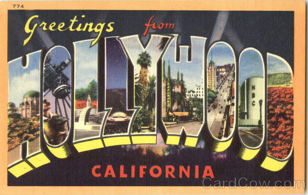 Greetings from Hollywood California Large Letter