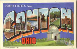 Greetings from Canton Postcard