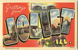 Greetings from Joliet Postcard