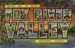 Greetings from Fox River Valley Postcard