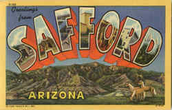 Greetings from Safford Large Letter