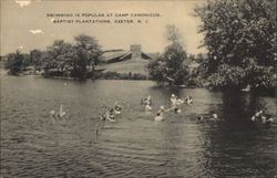 Swimming is Popular at Camp Canonicus Baptist Plantations