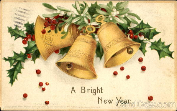 A Bright New Year Ellen Clapsaddle New Year's