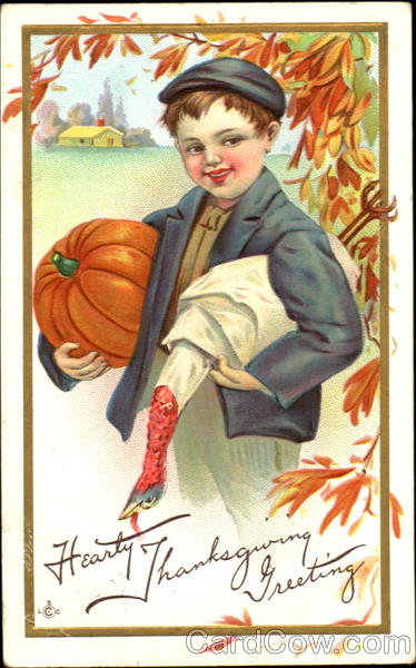 Hearty Thanksgiving Greetings Children