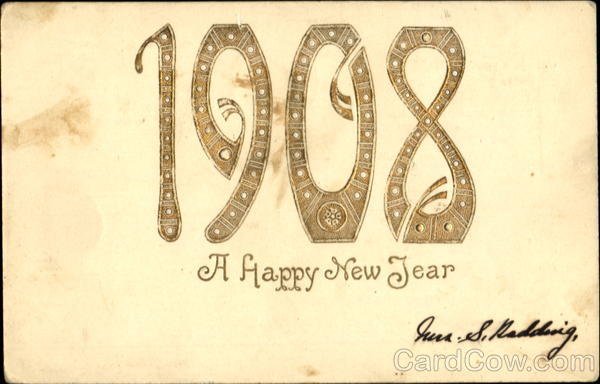 1908 The Happy New Year New Year's