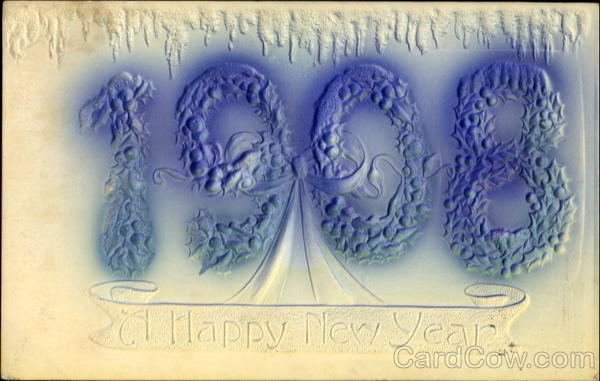 1908 A Happy New Year New Year's