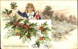 A Happy Christmas To You Postcard