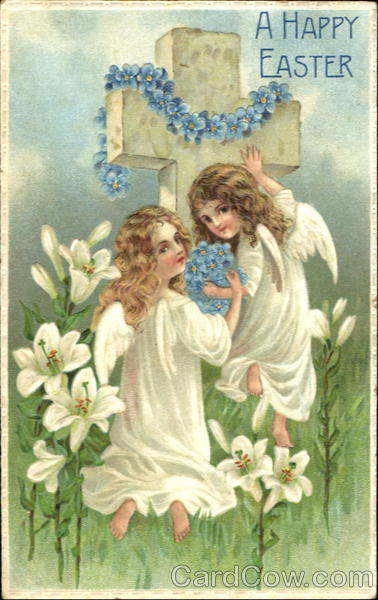 A Happy Easter With Angels