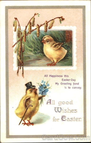 All Good Wishes For Easter With Chicks