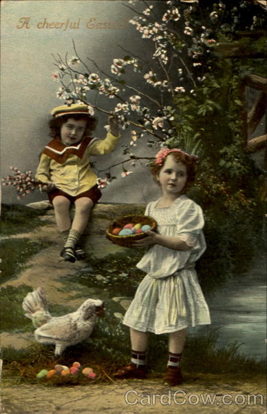 A Cheerful Easter! With Children