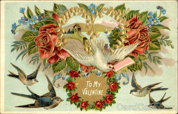 To My Valentine Birds Valentines Day