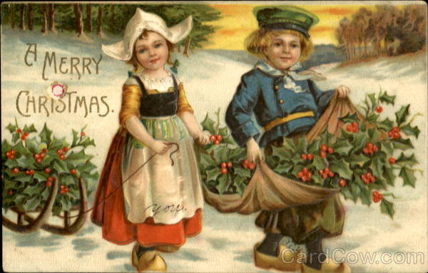 Merry Christmas In Dutch.A Merry Christmas Dutch Children