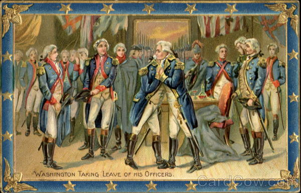 Washington Taking Leave Of His Officers President's Day