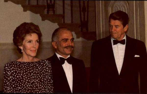 King Hussein Ronald Reagan