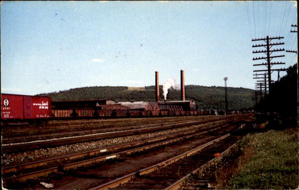 Lehigh Valley Railroad http://www.cardcow.com/150115/lehigh-valley-railroad-shops-sayre-pennsylvania/
