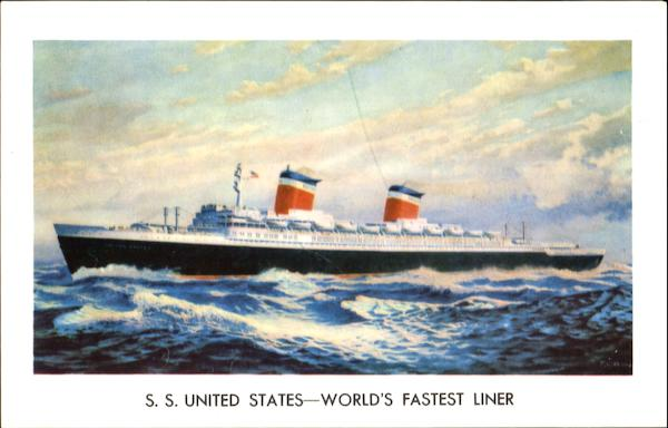 S. S. United States World's Fastest Liner Boats, Ships
