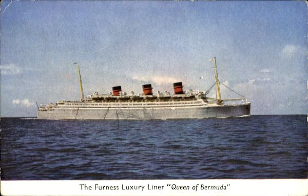The Furness Luxury Liner Queen of Bermuda Boats, Ships