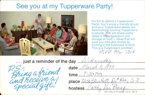 See you At My Tupperware Party! Advertising
