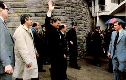 President Reagan Waves To Onlookers