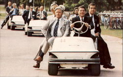 President Reagan Appears Pleased With His Driving Ability