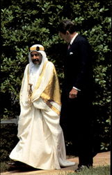 President Reagan And Visiting Emir Of Bahrain