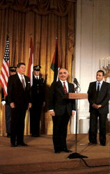 Jordon's King Hussein And Egyptian President Hosni Murbarak