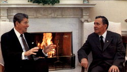 Ronald Reagan And The Soviet Foreign Minister Andrei Gromyko