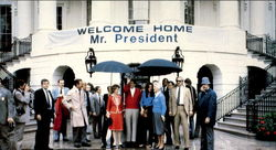 President Ronald Reagan Returns Home To The White House