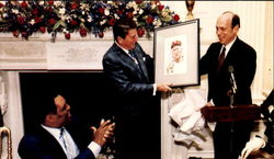 President Reagan Honored 32 Members Of Baseball's Hall Of Fame